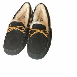 UGG Australia Dakota Black Fur Slippers Womens 9
